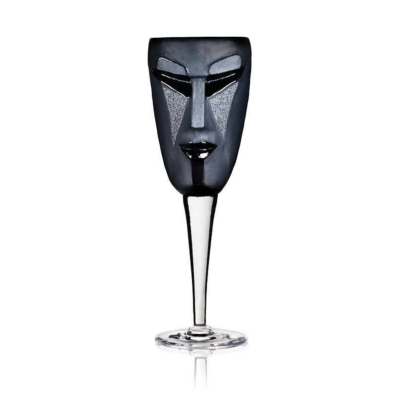 Kubik Wine Glass  From The MASQ Tableware Collection Black