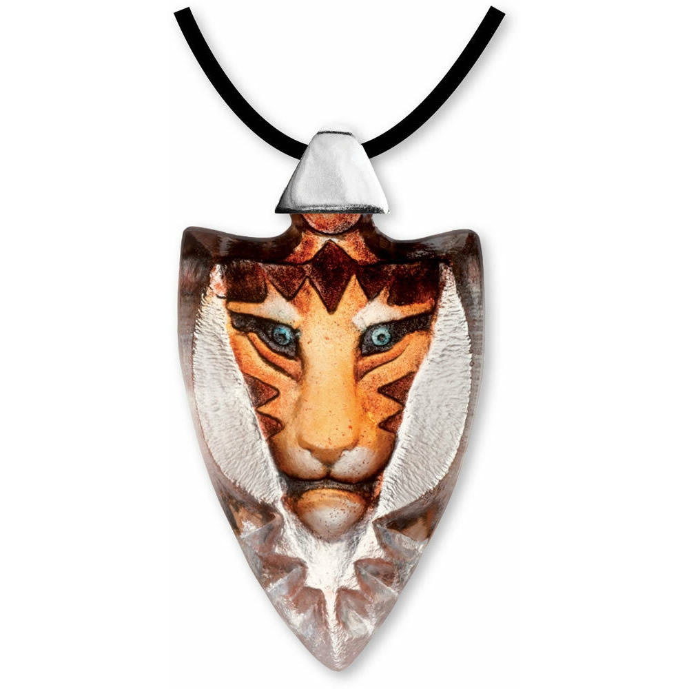 Tigris Crystal Necklace Orange