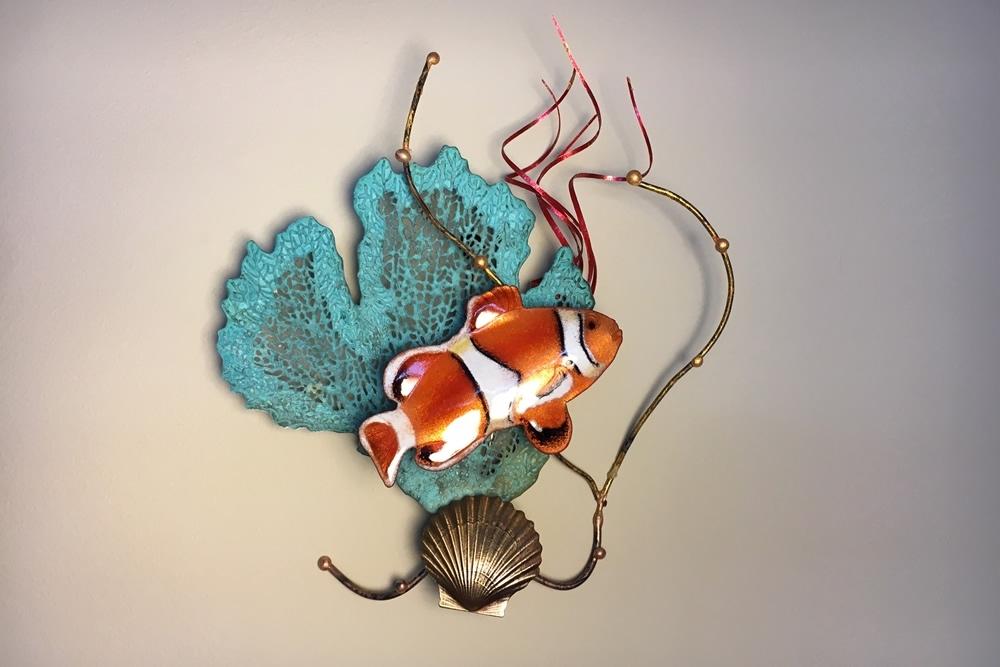 Clown Fish with Sea Fan Metal Wall Art Sculpture by Bovano ...